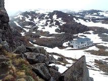 Whakapapa Ski Field, signore della posizione degli anelli Immagine Stock