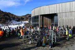 Whakapapa skifield on Mount Ruapehu Royalty Free Stock Image