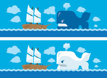 Whale Attack vector illustration