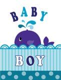 Whale baby boy Stock Photos