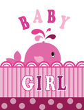 Whale baby girl Stock Image