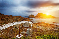 Whale bone in Cape D'Aguilar Peninsula. Landmark in hongkong Shek O Hok Tsui royalty free stock photos