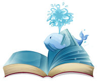 Whale and book Royalty Free Stock Image