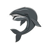 Whale or cachalot isolated vector mascot icon Stock Image