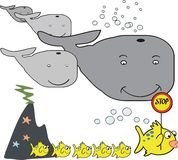 Whale cartoon Royalty Free Stock Photos