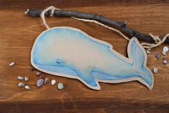 Whale cut from paper Royalty Free Stock Photography