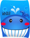 Whale cute in ocean background.  Stock Photo