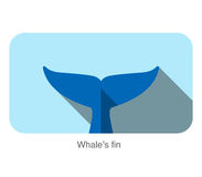 Whale fin flat icon design, vector illustration Royalty Free Stock Photos