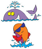 Whale and fish Royalty Free Stock Images