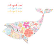 Whale of flowers Stock Photos
