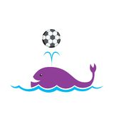Whale Football Royalty Free Stock Image