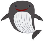 Whale with happy face Royalty Free Stock Image