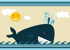 Whale illustration Stock Images