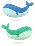 Whale isolate on white background Royalty Free Stock Photos
