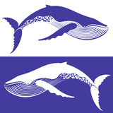 Whale. Isolated objects. Vector illustration (EPS 10&#x29 Royalty Free Stock Photography