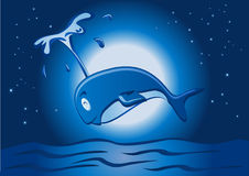 Whale jump in the night Stock Images