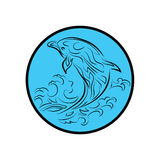 Whale logo retrench signs symbols icon cartoon design abstract illustration Royalty Free Stock Photos