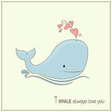 Whale in love Stock Images