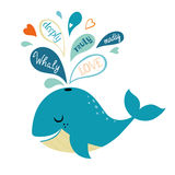 Whale in love Royalty Free Stock Image
