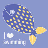 Whale loves swimming Stock Images