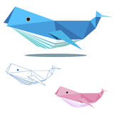 Whale low polygon Royalty Free Stock Photos