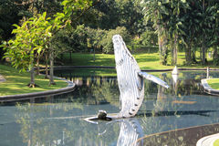 Whale model in city garden Royalty Free Stock Photography
