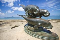 Whale monument Stock Images