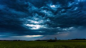Whale mouth dark storm clouds moving fast, timelapse 4k stock video
