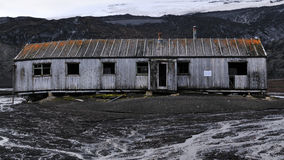A whale oil factory in Antarctica Stock Images