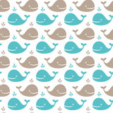 Whale pattern Royalty Free Stock Photography