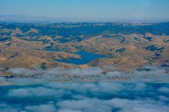 Whale Rock Reservoir in Cayucos, California stock image