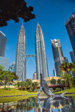 Whale sculpture at the city park near twin towers, in Kuala Lumpur. Malaysia Stock Photo