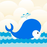 Whale in sea Stock Photography