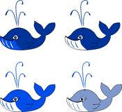 Whale set Royalty Free Stock Photo