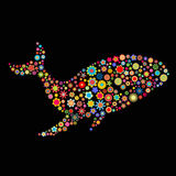 Whale shape Royalty Free Stock Photography