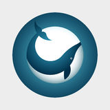 Whale Symbol Royalty Free Stock Photo