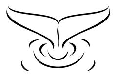 Whale tail. A tribal whale tail tattoo Royalty Free Stock Photography