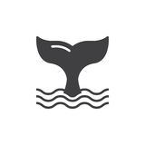 Whale tail icon vector, filled flat sign Royalty Free Stock Image