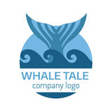 Whale tail label. Stock Photography