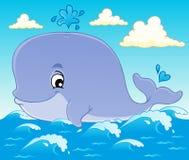 Whale theme image 1 royalty free stock photos