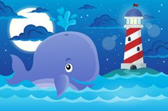 Whale theme image 2 Royalty Free Stock Images