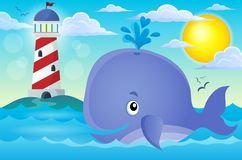 Whale theme image 3 Royalty Free Stock Image