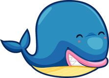 Whale vector. Illustration cartoon whale white background vector file Royalty Free Stock Image