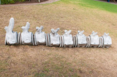 Whale vertebrae Royalty Free Stock Photo