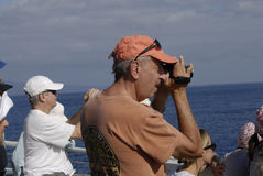 WHALE WATCHERS Royalty Free Stock Photography