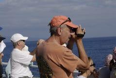 WHALE WATCHERS. Maui .Hawaii islands ,USA_Whale watcher from mainland USA thousands of tourists fro usa mainland on Maui island 08 January 2015 hoto by Francis royalty free stock photography