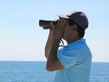 Whale Watching. Madeira Island stock images