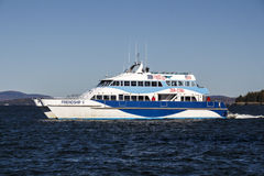 Whale Watching Boat in Bar Harbor, USA, 2015 Stock Images