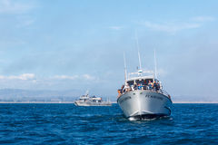 Whale watching vessel Stock Image