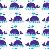 Whale on a white background Royalty Free Stock Images